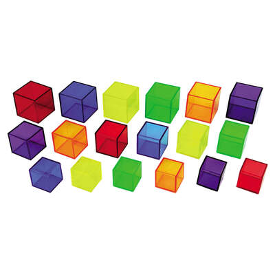 Translucent Cubes Assorted 54 Pack