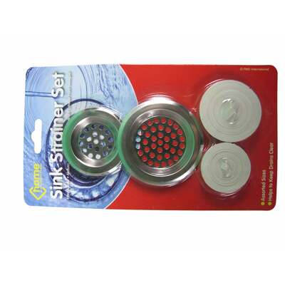 Sink Strainers and Plugs 4 Pack