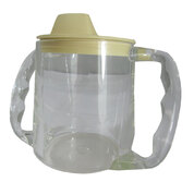 Clear Caring Cup Twin Handled