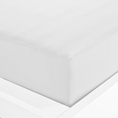 Everyday Single Fitted Sheet 91cm x 191cm - Colour: White