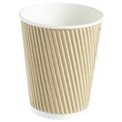 Kraft Ripple Wall Coffee Cup 12oz 20x25