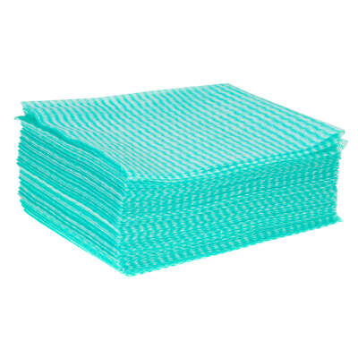 Cleaning Cloth 50 Pack - Colour: Green