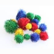 Pom Poms Assorted Glitter 100 Pack