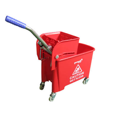 Gompels Mop Bucket With Wringer 20l - Colour: Red