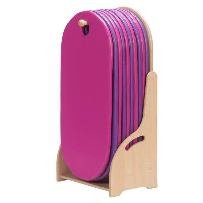 Floorstanding Sleep Mat Unit With 10 Sleep Mats - Colour: Purple