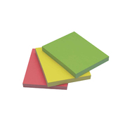 Quick Sticky Notes Neon 40 x 50mm 3pk