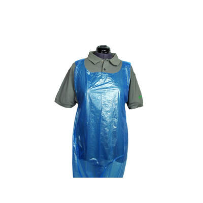 Disposable Premium Plastic Aprons - Rolls of 200 - Colour: Blue