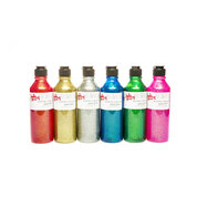 Glitter Paint 300ml x 6 Asst Colours
