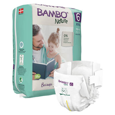 Bambo Nature Xl Plus Size 6 Nappies 40