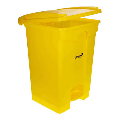 Soclean Pedal Bin 45l - Colour: Yellow