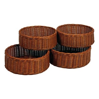 Rattan Storage Baskets Round 4 Pack