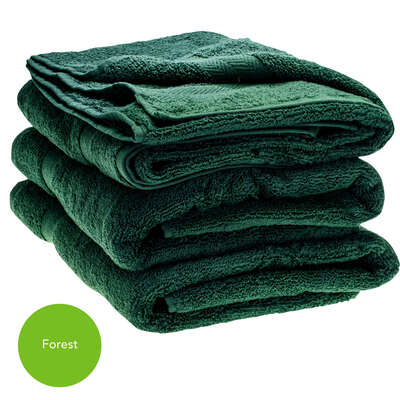 Bath Towel 70x130cm 500gm x 3 - Colour: Forest