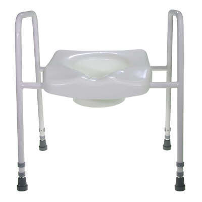 Toilet Frame With Moulded Seat