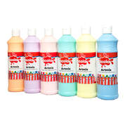 Ready Mixed Paint Assorted Pastel 600ml 6 Pack