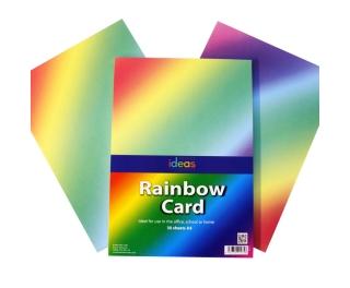 A4 Rainbow Card 30 Pack
