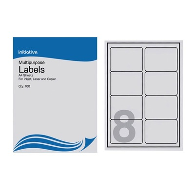 Multi Purpose Labels 99.1 x 67.7mm 8 Sheet 100 Pack