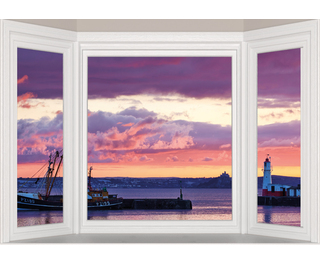 """Window Frame Wall Vinyl Newlyn 60"""" x 40"""""""