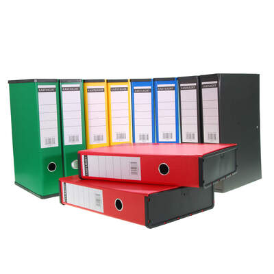 Box File Foolscap A4 Assorted 10 Pack