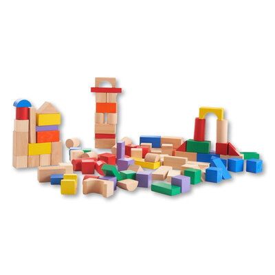 Wooden Block Set 100 Pcs