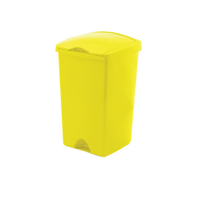 50 Ltr Lift Top Bin - Colour: Yellow