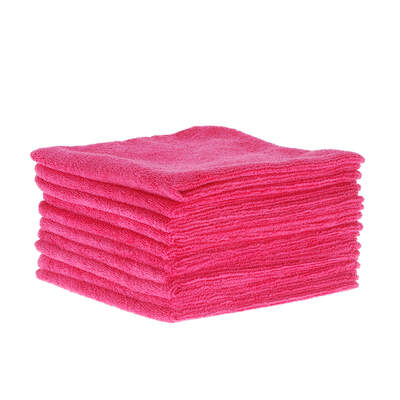 Soclean Microfibre Cloths 10 Pack - Colour: Red