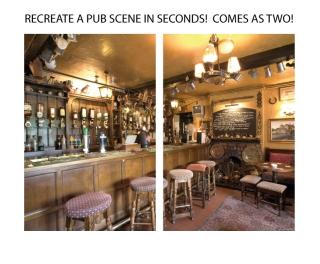 """Traditional English Pub Poster 80"""" x 60"""""""