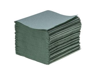 Children's Hand Towel V Fold Green 1ply 7200
