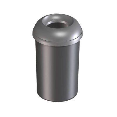 Addis 50 Ltr Open Top Bin Silver