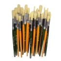 Natural Round Coloured Bristle Brush 30 Pack