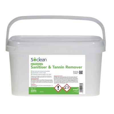 Soclean Sanitiser and Tannin Remover 5kg