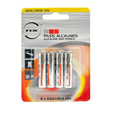 Size AAA Alkaline Battery 4pk