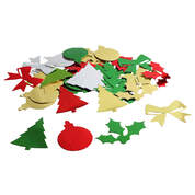 Festive Metallic Shapes Assorted 30g