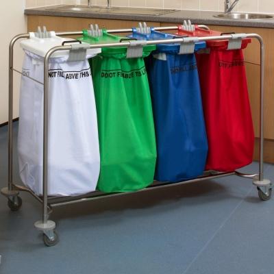 Medi Cart Laundry Trolley Four Bag