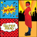 Early Years Super Hero Cape Red