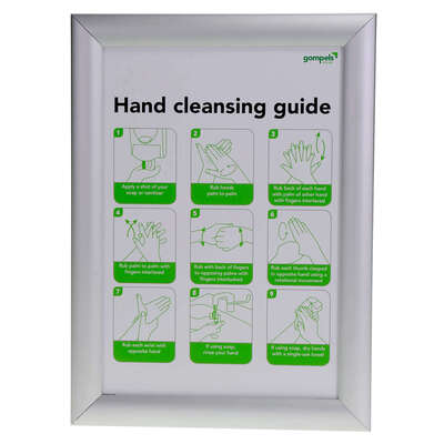 Hand Washing Guide/Please Use The Bin Provided Sign A4