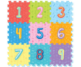 Foam Play Mat Tiles Numbers 9pc