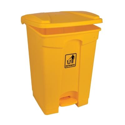 Pedal Bin 45l - Colour: Yellow