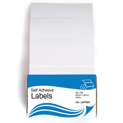 Self Adhesive Labels 36mm x 89mm 250 Pack
