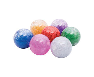 Sensory Rainbow Glitter Balls Assorted 7 Pack