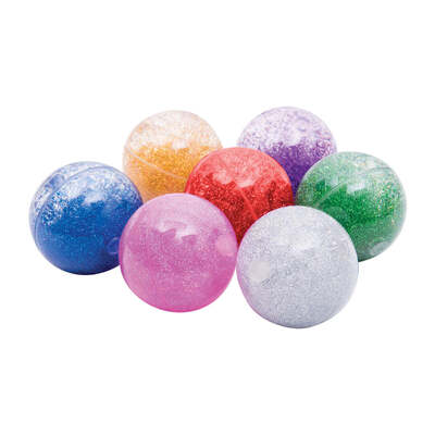 Sensory Rainbow Glitter Balls Assorted 7 Pack