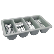 Cutlery Tray Grey Plastic