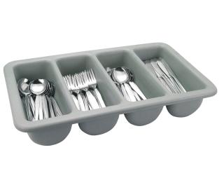 Cutlery Tray Grey Plastic