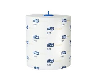 Tork Premium White Paper Hand Towels Roll x 6 H1