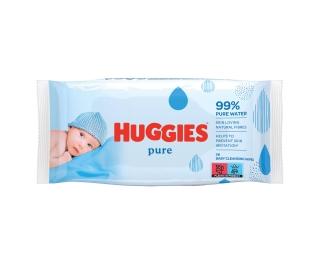 Huggies Pure Wet Wipes 10 x 56