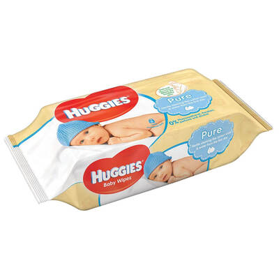 Huggies Pure Wet Wipes 10 x 56