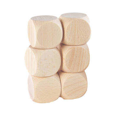 Wooden Cube 40x40mm 6 Pack