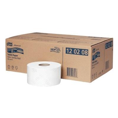 Tork Advanced Toilet Paper Mini Jumbo Roll x 12 T2