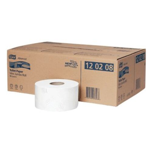 Tork Advanced Toilet Paper Mini Jumbo Roll X 12 T2