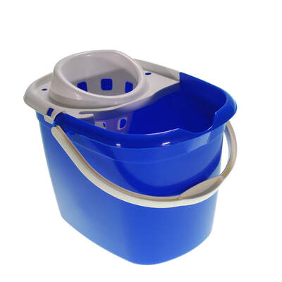Plastic Mop Bucket 15 Litre - Colour: Blue