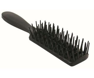 Black Plastic Hairbrush